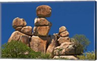 Mother and Child rock formation, Matobo NP, Zimbabwe, Africa Fine-Art Print