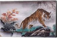 Tiger Painting on Outdoor Corridors, Zhongshan Park, Beijing, China Fine-Art Print