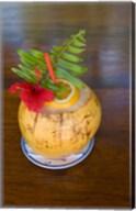 Tropical cocktail, Fregate Island, Seychelles, Africa Fine-Art Print
