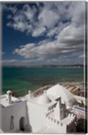 Tunisia, Cap Bon, Gulf of Hammamet from the Kasbah Fine-Art Print