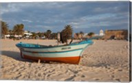 Tunisia, Hammamet, Kasbah Fort, Fishing boats Fine-Art Print