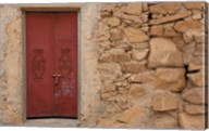Tunisia, Ksour Area, Ezzahra, village doorway Fine-Art Print