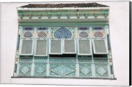 Tunisia, Mahdia, window, moorish architecture Fine-Art Print