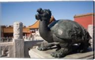 Turtle statue, Chinese symbol, Forbidden City, Beijing Fine-Art Print