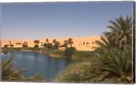 Umm El Ma Lake, Erg Awbari, Sahara Desert, Fezzan, Libya Fine-Art Print