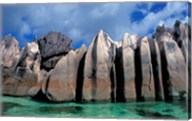 Unique Rock Formations on Shore of Curieuse Island, Seychelles Fine-Art Print