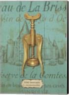 Antique Corkscrew III Blue Fine-Art Print