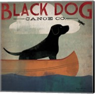 Black Dog Canoe Fine-Art Print