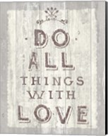 Do All Things Driftwood Fine-Art Print