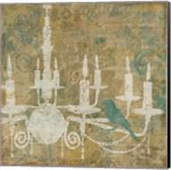 Faded Ornate I Aqua Fine-Art Print