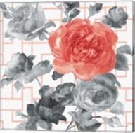 Geometric Watercolor Floral I Fine-Art Print