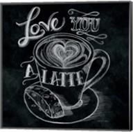 Love You a Latte  No Border Square Fine-Art Print