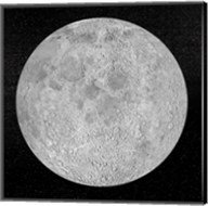 Artists concept of a full moon in the universe at night Fine-Art Print