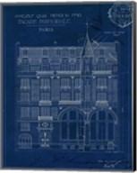 Quai Henri Blueprint I Fine-Art Print