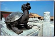 China, Beijing, Forbidden City, Turtle statue Fine-Art Print