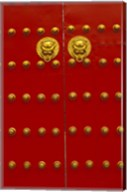 Red Gates by Forbidden City, Beijing, China Fine-Art Print