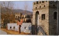 Entrance to Huaxia Winery Wine Cellar, Beijing, China Fine-Art Print