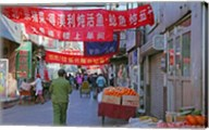 Hutong in Market Street, Beijing, China Fine-Art Print