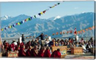 Tibetan Ceremony in Shanti Stupa, Leh, Ladakh, India Fine-Art Print