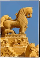 Carved figures on Jain Temple, Jaisalmer, India Fine-Art Print