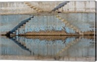 Steps mirrored on small lake, Jodhpur, India Fine-Art Print