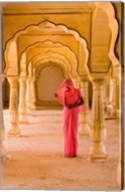 Arches, Amber Fort temple, Rajasthan Jaipur India Fine-Art Print