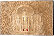 Carving on the wall, Jain Temple, Ranakpur, Rajasthan, India. Fine-Art Print