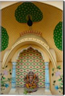 Small shrine to Ganesh, Jaipur, Rajasthan, India. Fine-Art Print