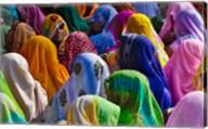 Women in colorful saris, Jhalawar, Rajasthan, India Fine-Art Print