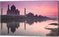 Taj Mahal From Along the Yamuna River at Dusk, India Fine-Art Print