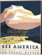 See America - Welcome to Montana I Fine-Art Print
