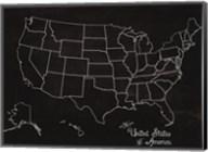 USA Map (chalk) Fine-Art Print
