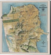 Map of San Francisco, California, 1912 Fine-Art Print