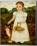 Girl with Cat Fine-Art Print