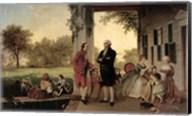 Washington and Lafayette at Mount Vernon, 1784, 1859 Fine-Art Print