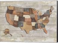 Wood Map Fine-Art Print