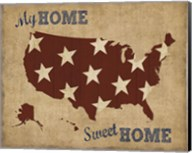 My Home Sweet Home USA Map Fine-Art Print