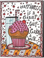 Happiness Is A Giant cupcake Fine-Art Print