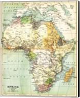 Map of Africa 1885 Fine-Art Print