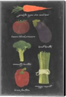 Blackboard Veggies I Fine-Art Print