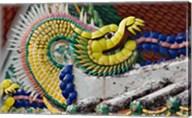 Decorative dragon, Wat Pho, Bangkok, Thailand Fine-Art Print