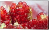 Pomegranate on the street raw or made into juice, Bangkok, Thailand Fine-Art Print