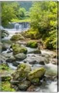 Waterfall and River, Rize, Black Sea Region of Turkey Fine-Art Print