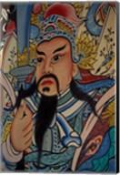 Wall Mural at Wat Po, Bangkok, Thailand Fine-Art Print