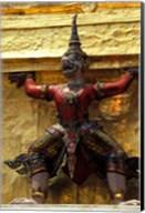 Thai Guardians and Detail of the Grand Palace, Bangkok, Thailand Fine-Art Print
