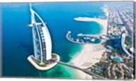Aerial view of the Burj Al Arab, Dubai, United Arab Emirates Fine-Art Print
