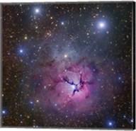 The Trifid Nebula located in Sagittarius Fine-Art Print