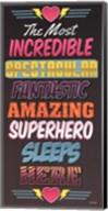 Superhero Sleeps Here Fine-Art Print