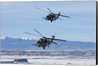Two HH-60G Pave Hawk's over New Mexico Fine-Art Print