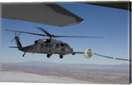 HH-60G Pave Hawk Conducts Aerial Refueling from an HC-130 Fine-Art Print